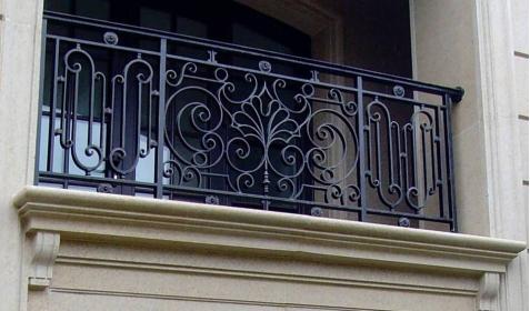 阳台铁艺栏杆样式及设计图纸(法式,中式,地中海式,西班牙式)图片