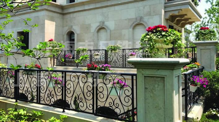 法式别墅铁艺栏杆